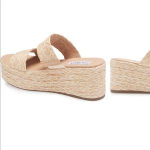 🆕Steve Madden | Jolted Wedge Sandal  8 NWB Raffia